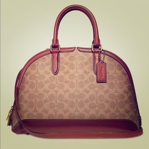 Coach canvas Signature Quinn Satchel